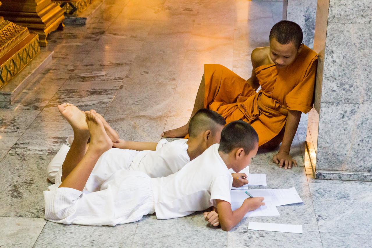 Children Studying at Doi Suthep