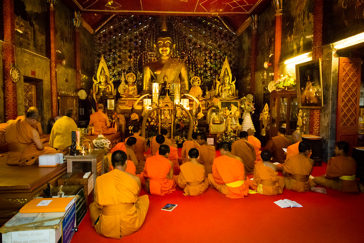 Monks Worshiping at Doi Suthep