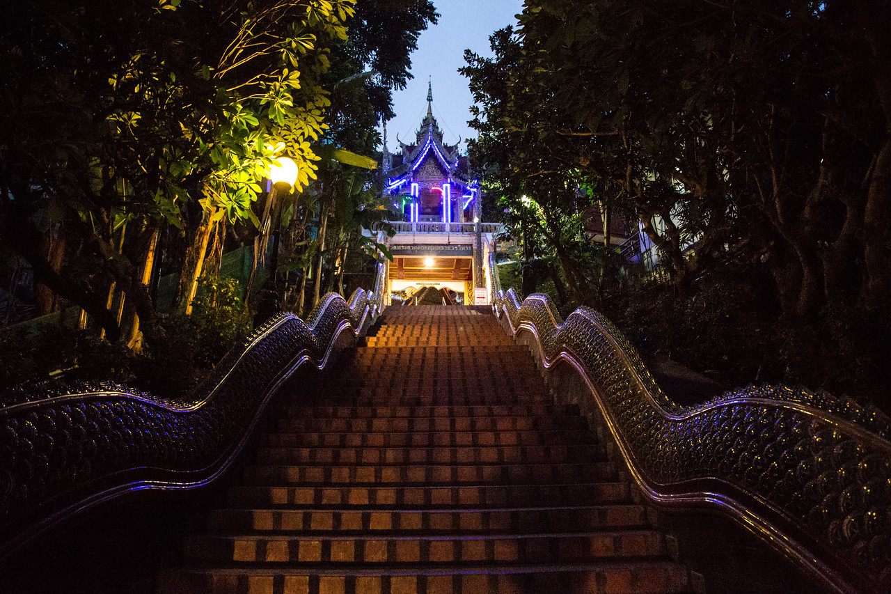 The Naga Snake Stairway to Doi Suthep