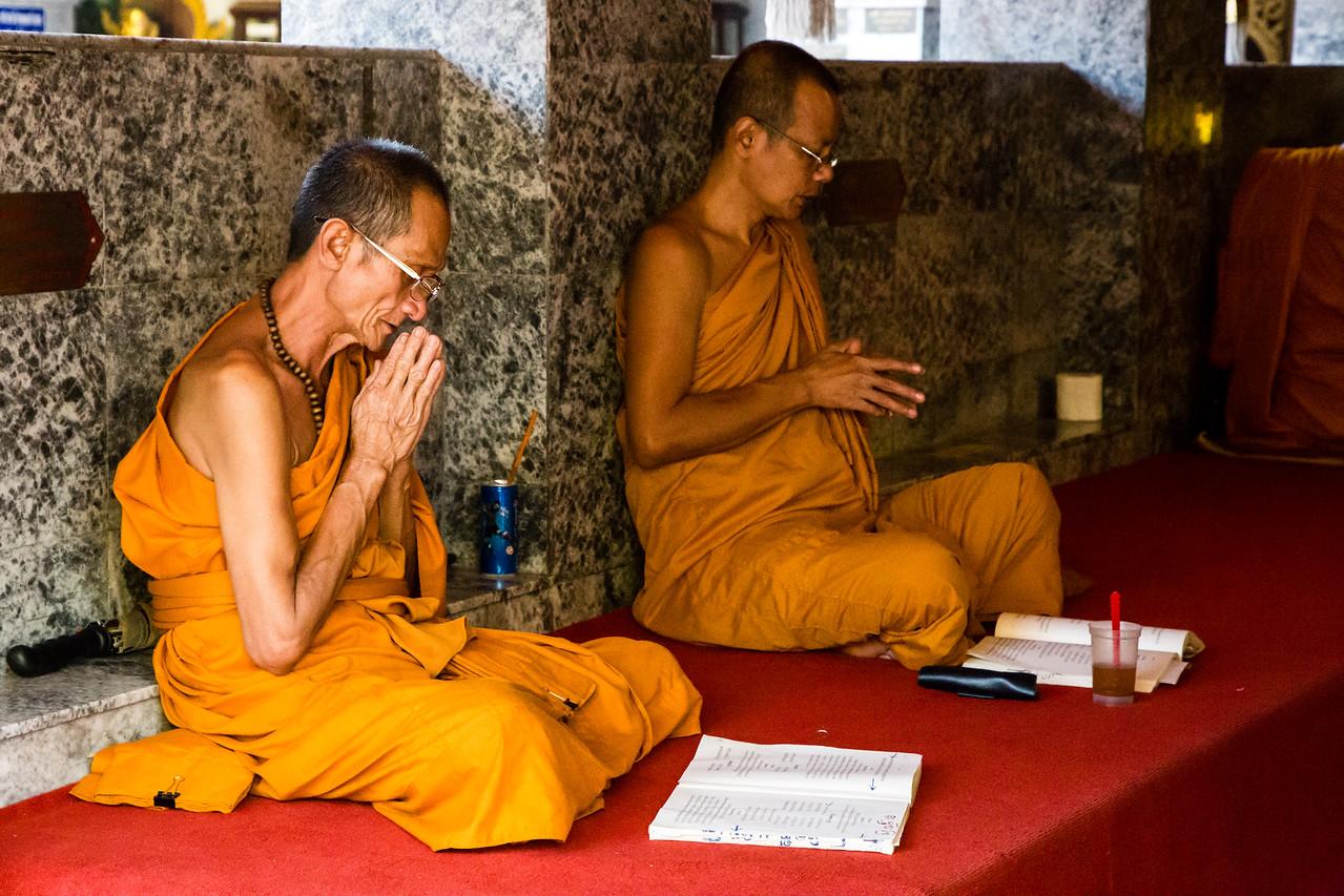 Monks Praying at Doi Suthep