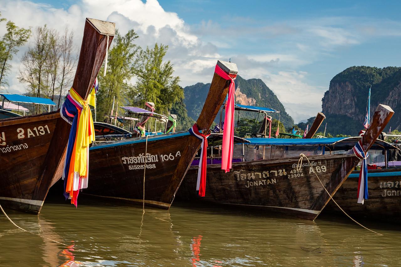 Longtail Boats near Krabi, Thailand