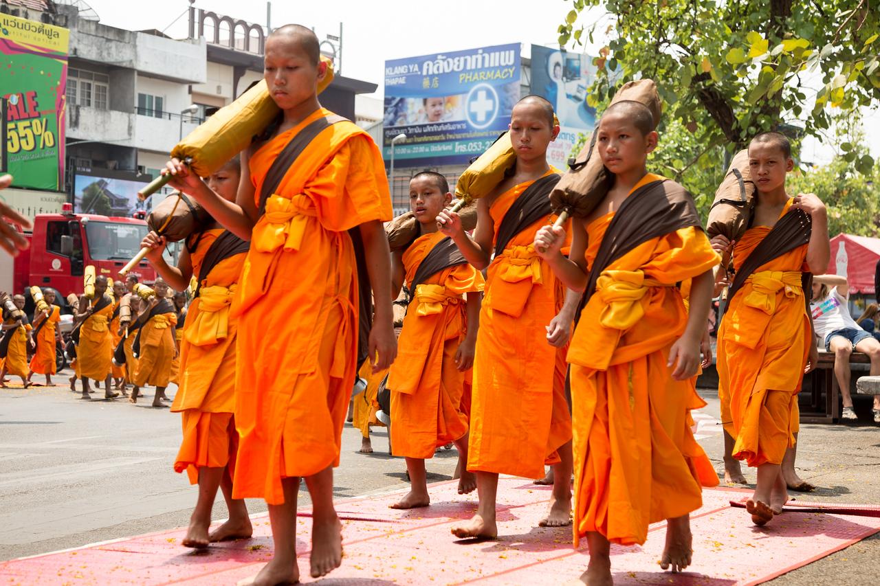 Dhutanga Monks in Chiang Mai, Thailand