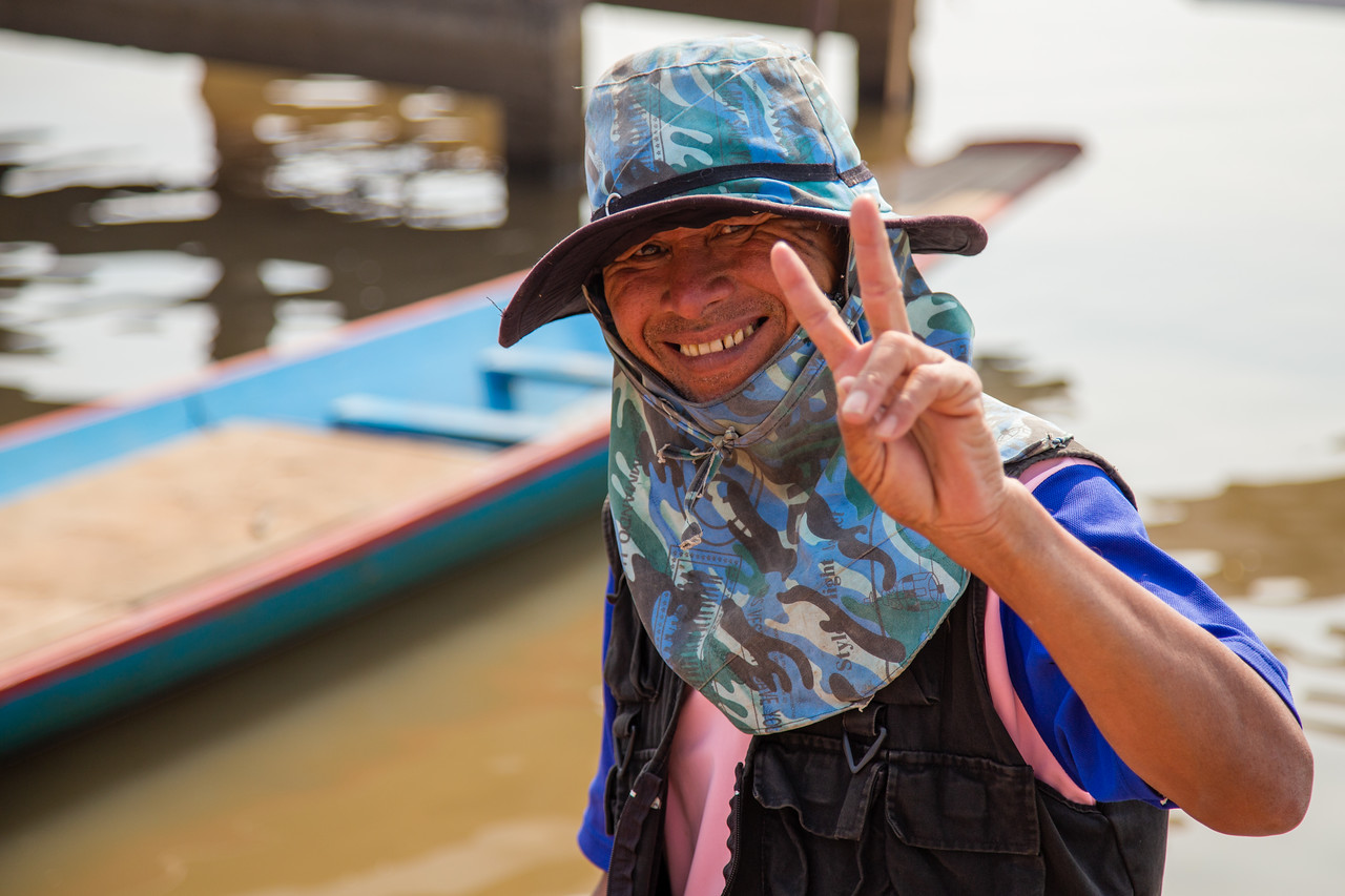 Our Guide on the Red Lotus Lake Near Udon Thani, Thailand