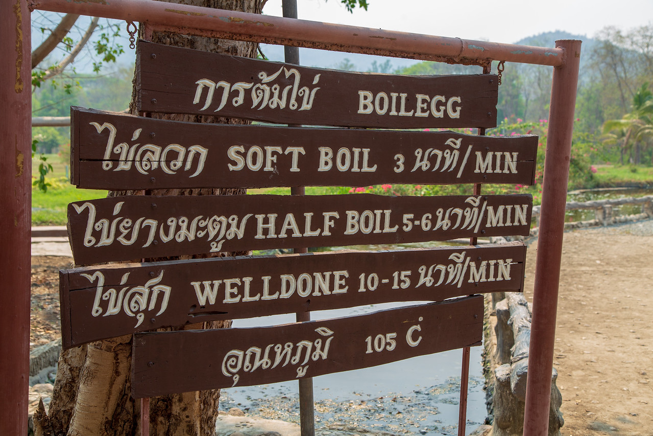 Egg Boiling Times at San Kamphaeng Hot Springs