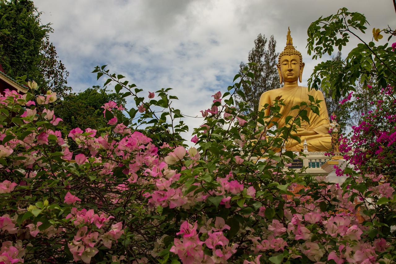 Golden Buddha at Wat Phrathat Doi Saket Temple