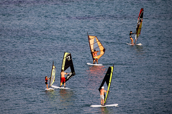 Windsurfers in Alacati, Turkey