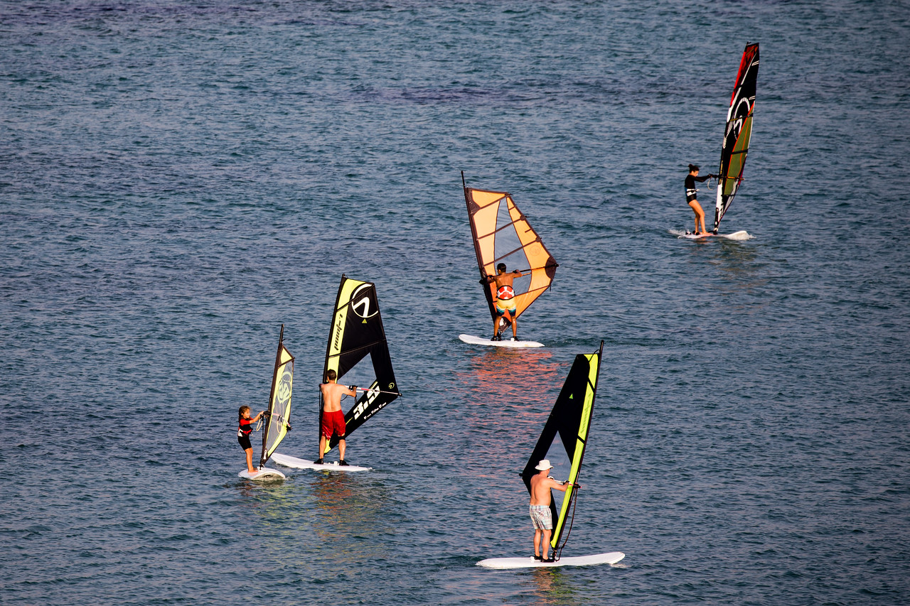 Windsurfers in Cesme, Alacati, Turkey