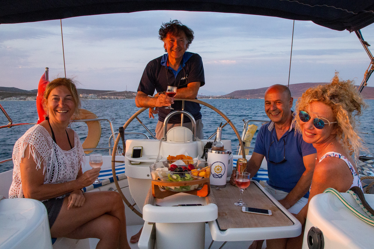 Our Sailing Crew in Alacati Cesme Turkey