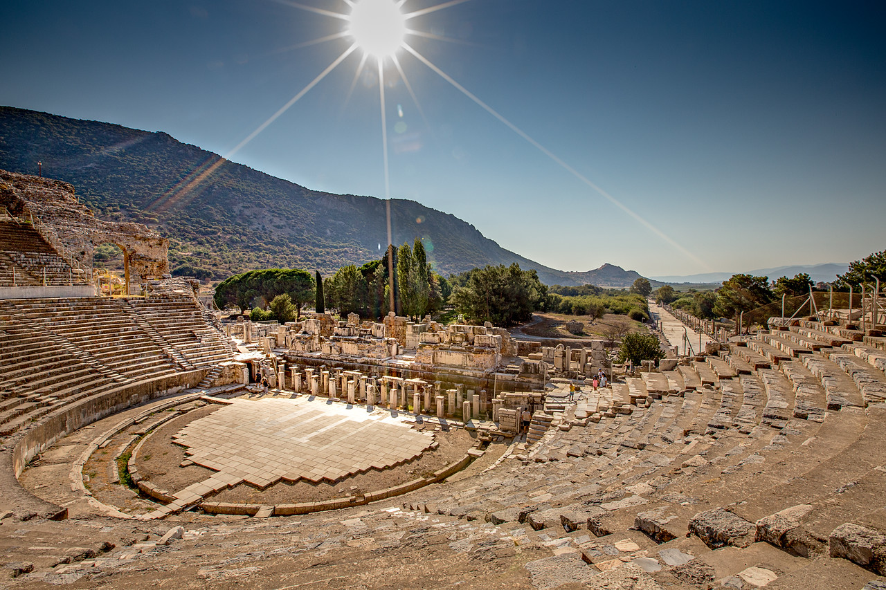 Photo of the Ephesus Amphitheatre in Turkey