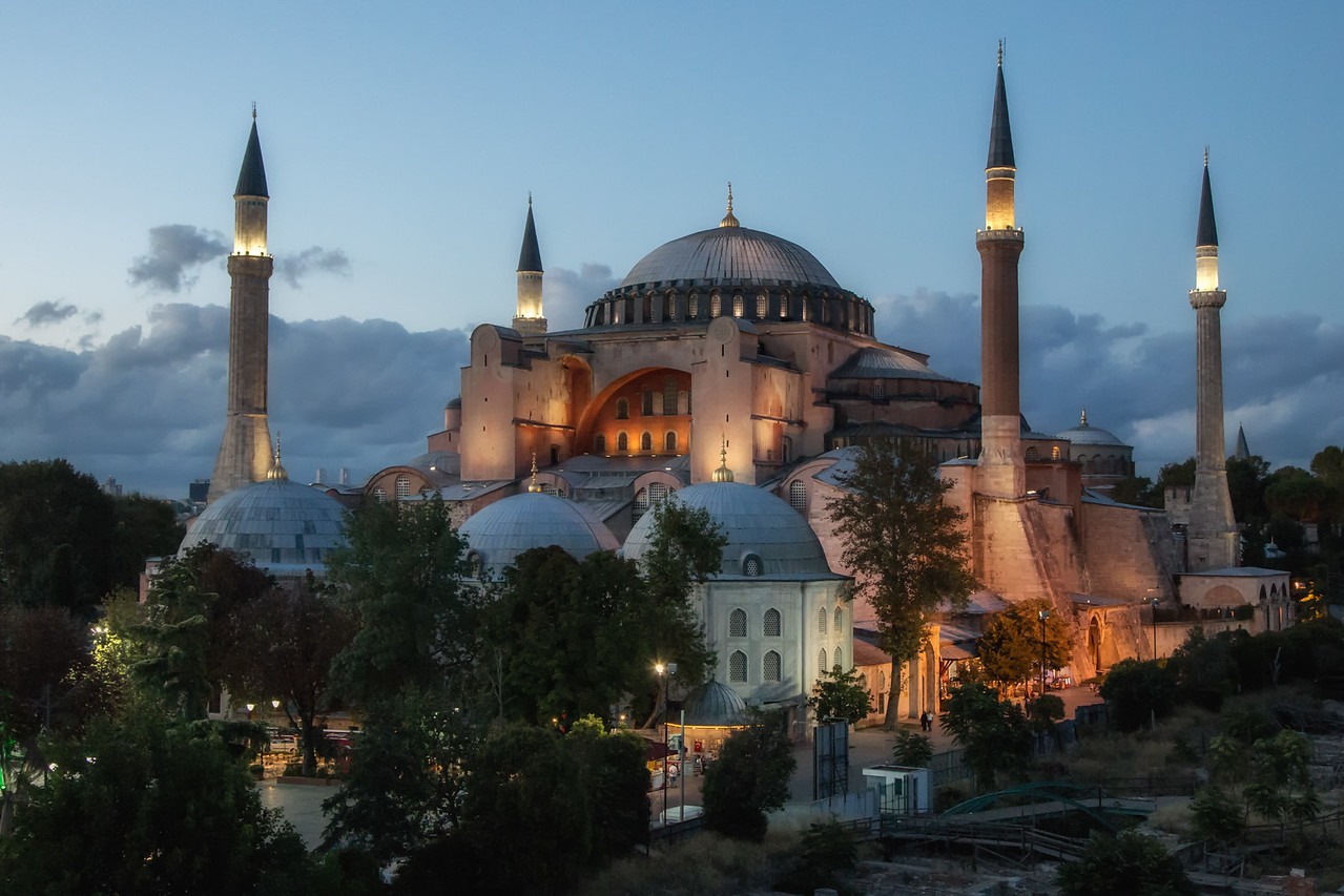 Sunset at Hagia Sophia