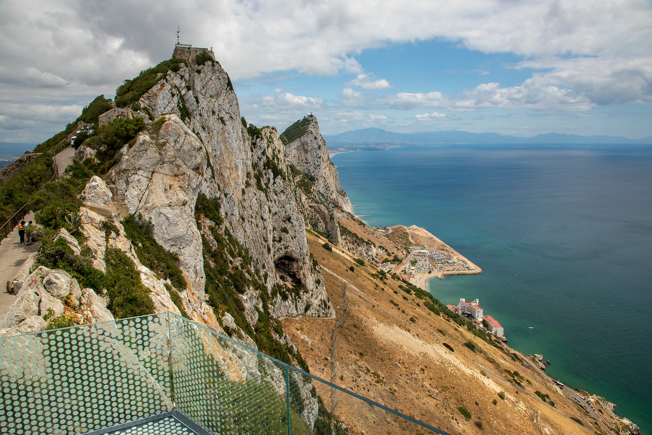 View From the Rock of Gibraltar Skywalk Top thing to see in Gibraltar