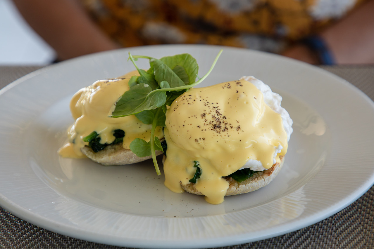Eggs Benedict at Bistro Point Restaurant on Gibraltar