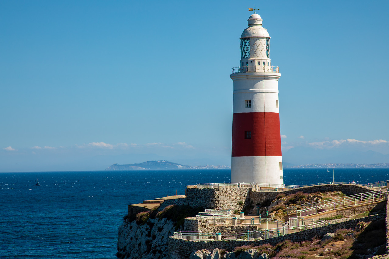 Gibraltar Lighthouse with Africa in the Background