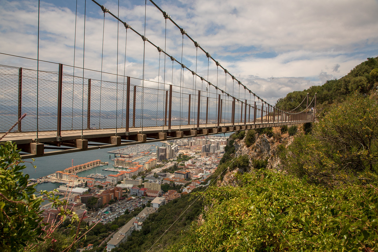Windsor Suspension Bridge on the Rock of Gibraltar