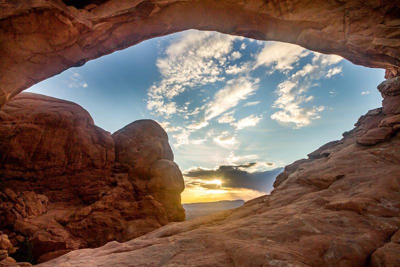 Sunrise Through North Arch
