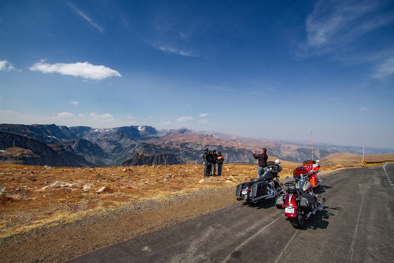 Scott Helping Out Some Bikers on Beartooth Highway With a Group Shot
