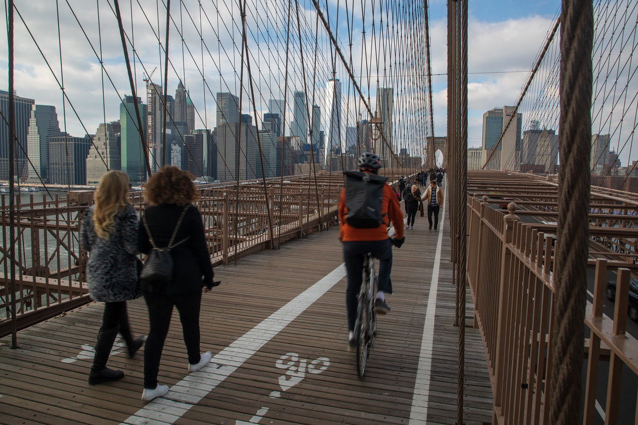 In Addition to Walking the Brooklyn Bridge You Can Ride Bicycles Across