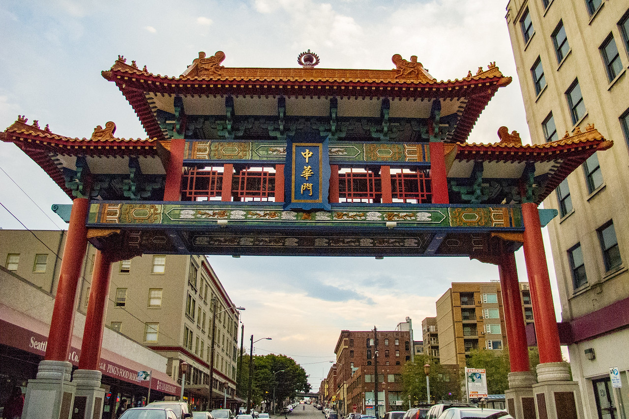 Entrance to Chinatown in Seattle