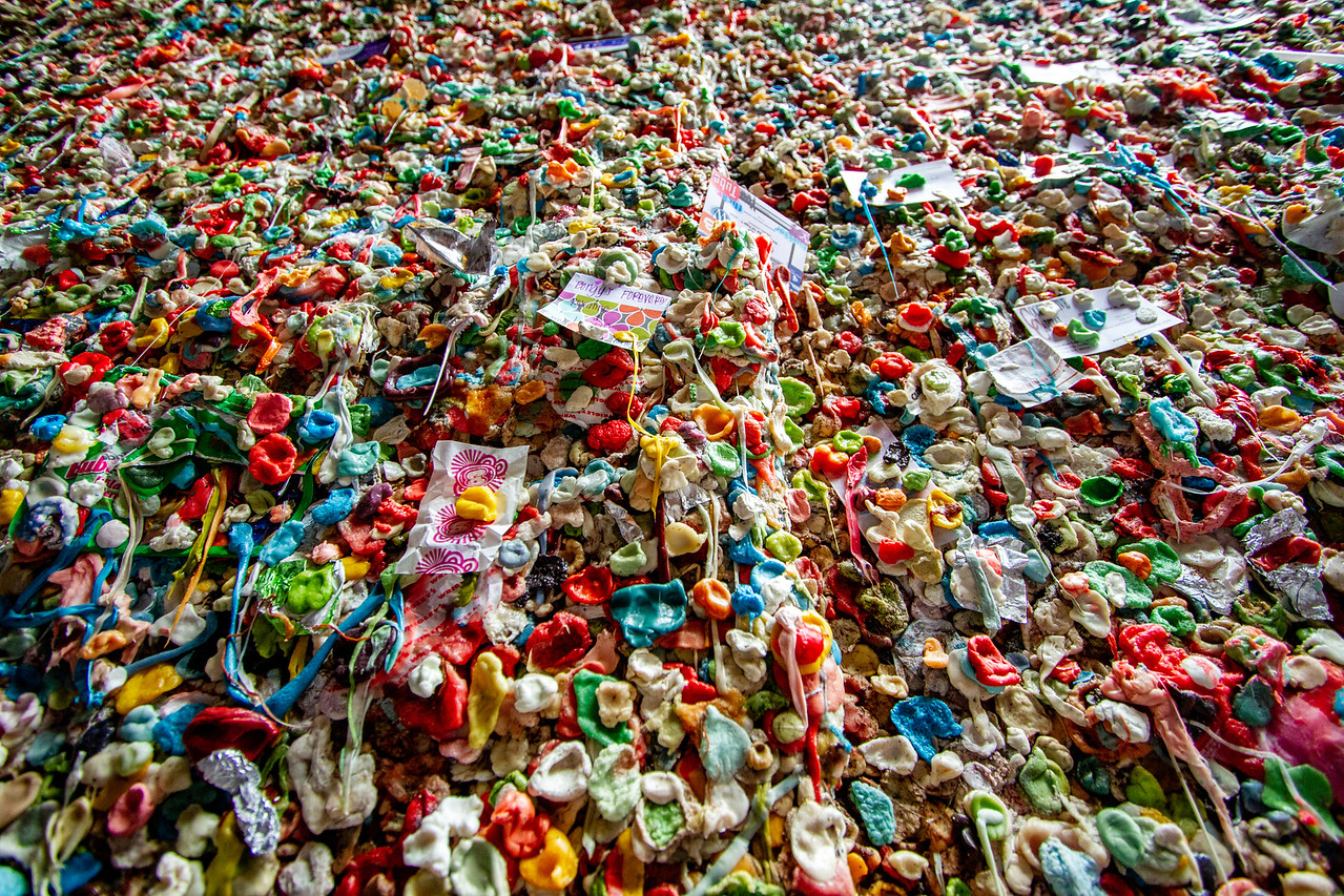Is This Art? The Gum Wall at Pike Place Market in Seattle