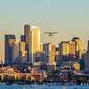 Seaplane Over Downtown Seattle, Washington, USA