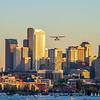 Seaplane Over Downtown Seattle, Washington, USA