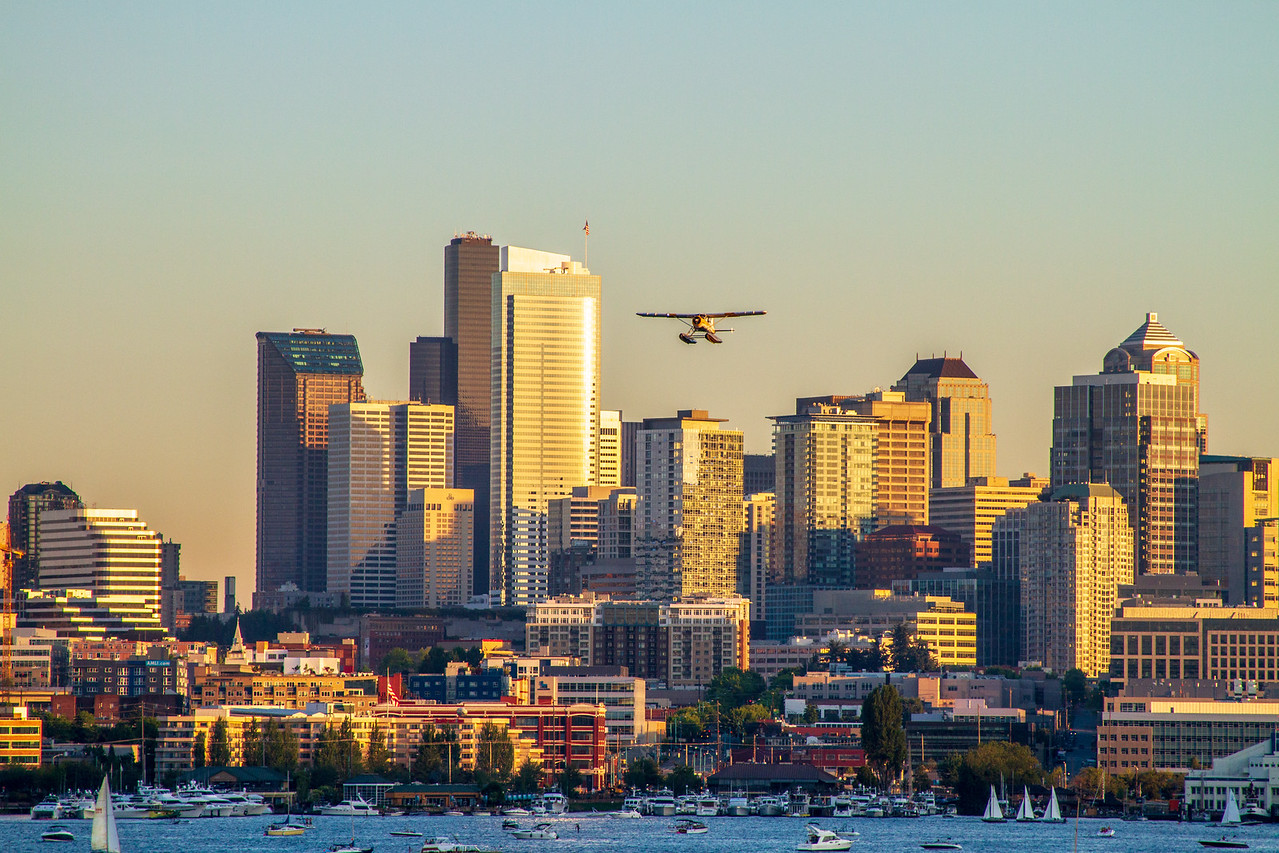 Seaplane Over Seattle