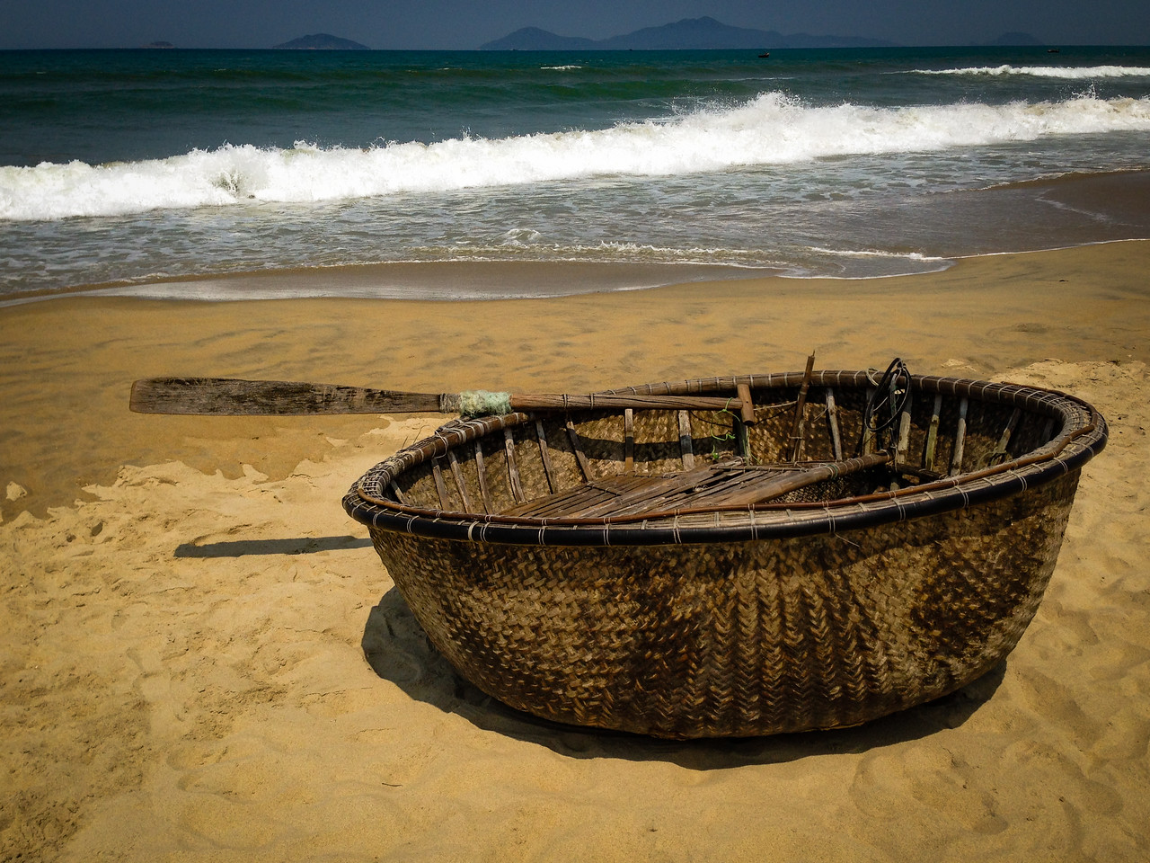 Photo: Basket Boat in Vietnam