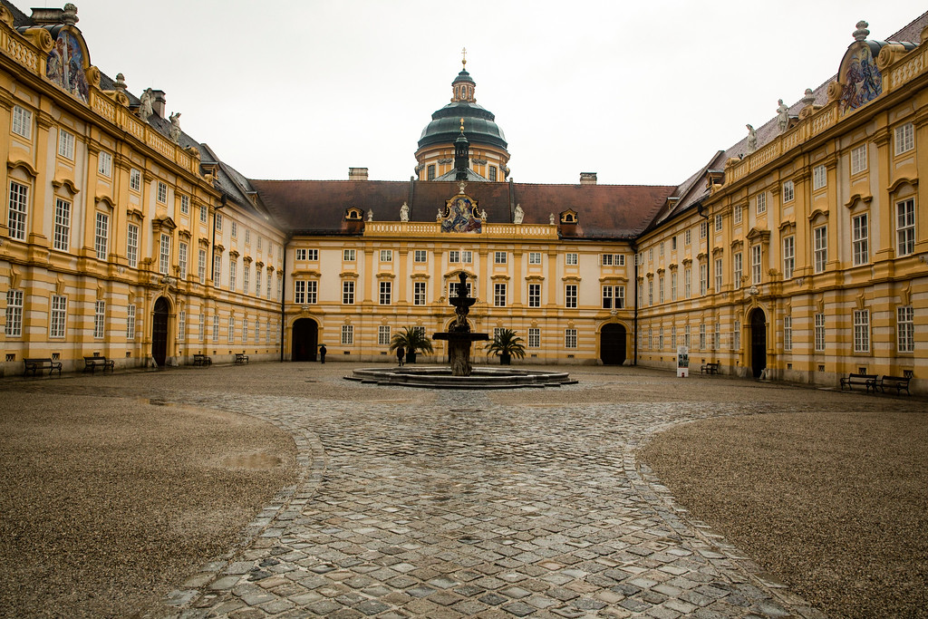 The Interior Courtyard of Melk, Abbey