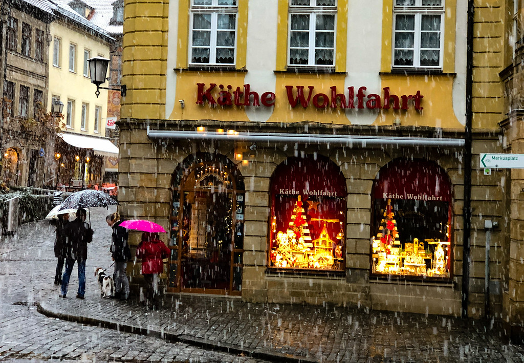 Snow? Really? Actually, it turned this little German Town into a winter wonderland (for a second)