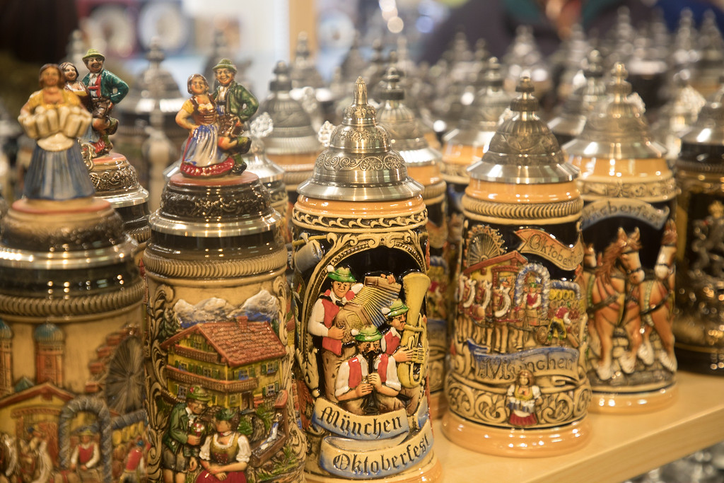Regensburg seems to specialize in Bavarian Beer Steins as well