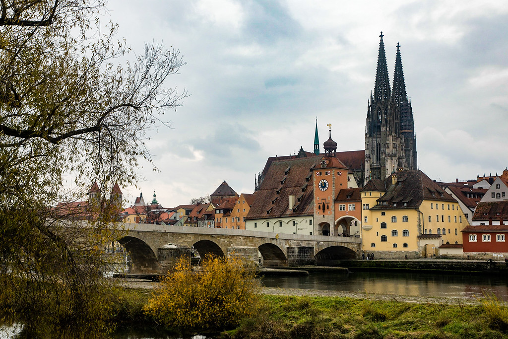 The town of Regensburg just seems to pose for pictures.