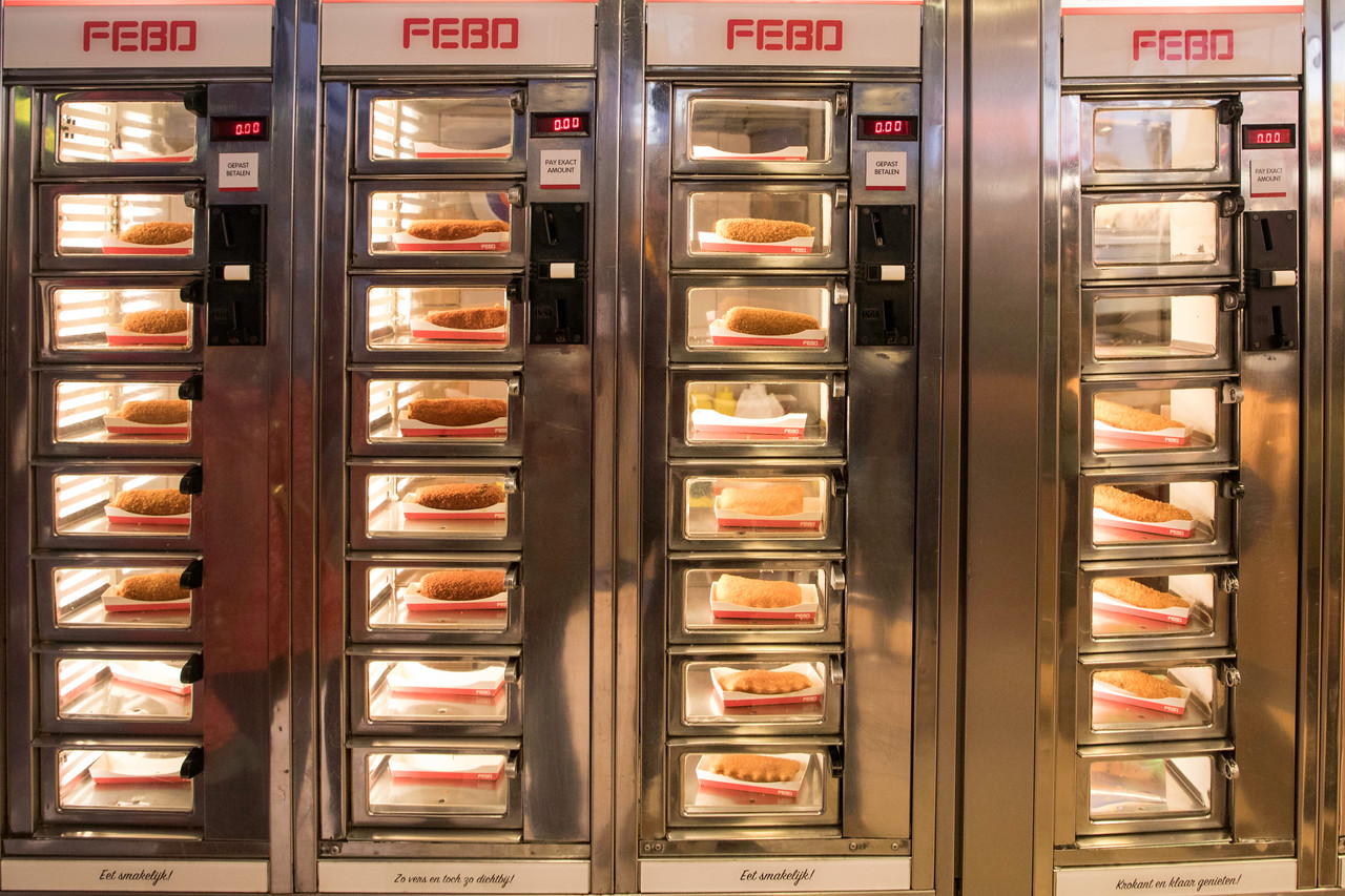 FEBO's Automat's Metal Wall of Food