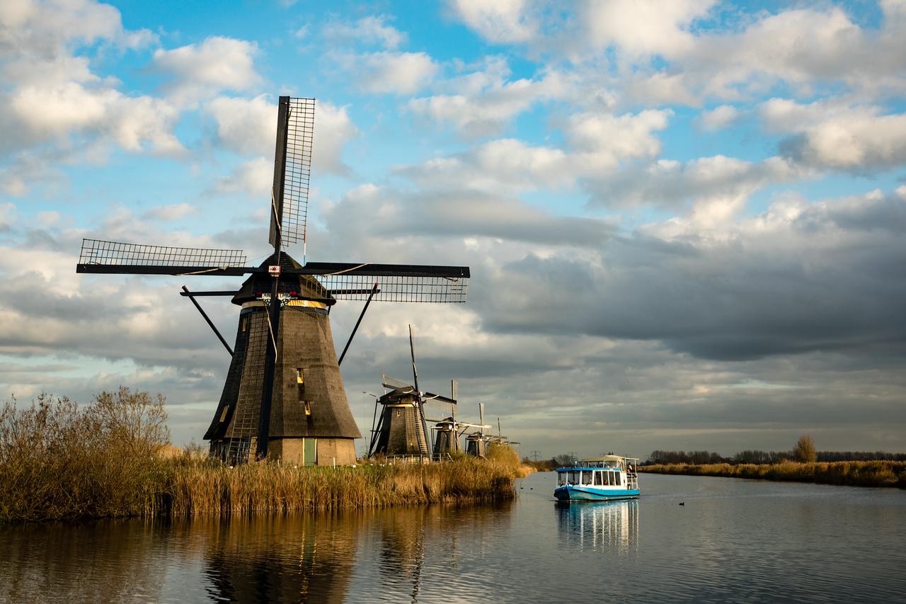 Image of windmills at Kinderdijk Netherlands