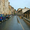 The town of Assisi, Italy on a rainy afternoon.