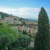 Another view of the old town of Assisi as it sits perched on a hillside.