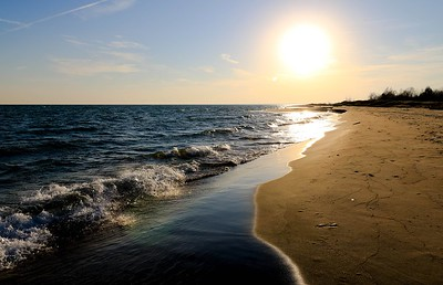 Sunset at Lake Huron by Tanya Troupe