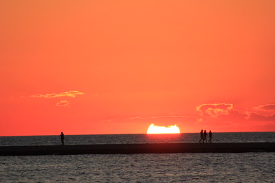 Sunset on Lake Michigan by Tanya Troupe
