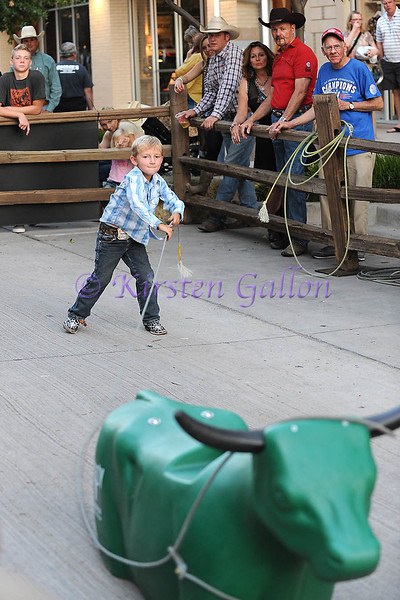 COWBOY PALOOZA<br /> WYATT HOWELL, 5 year old Wyatt Howell shows the crowd his roping skills.