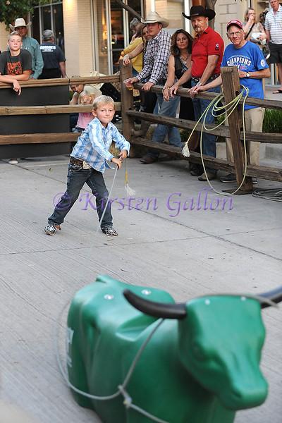 COWBOY PALOOZA<br /> WYATT HOWELL, 5 year old Wyatt Howell shows the crowd his roping skills.