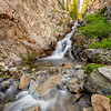 Chuck Knowles - Waterfall in Creek from Twin Lakes to Alice Lake Idaho