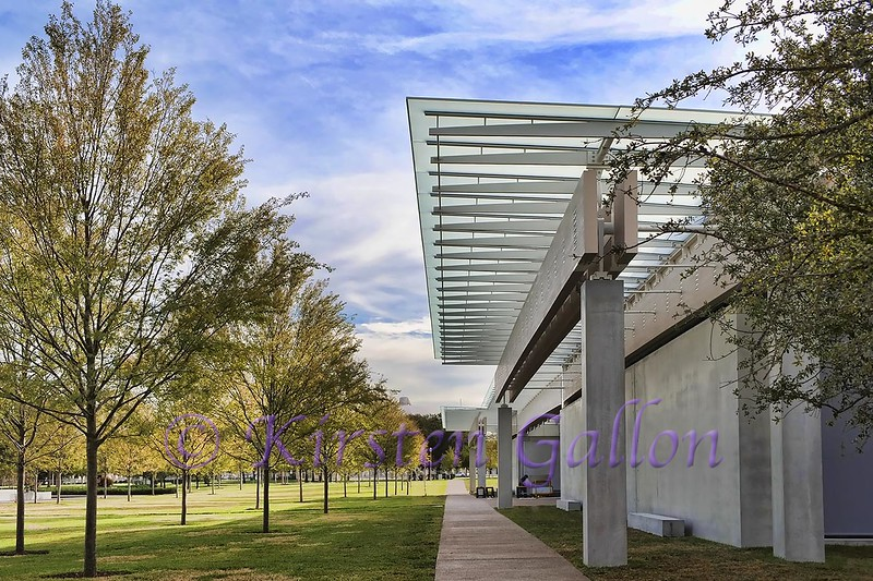 Renzo Piano Pavilion<br /> The east side of the building where the main entrance is.  Photographed facing south.
