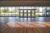 Renzo Piano Pavilion<br /> From the main room and entrance looking out towards the Kimball Art Museum.