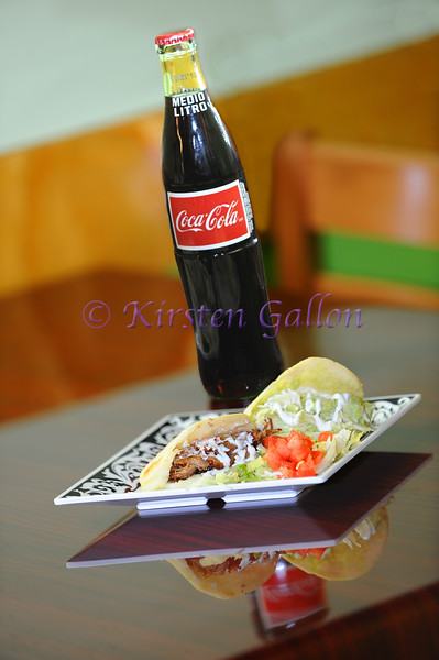 My Dish, Sol de Luna Restaurant<br /> An Arepa, or Venezuelan Taco and a Mexican Coke.  A favorite at the Sol de Luna.