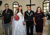Elton Plaster et la jeune mariée Silvana dans l'eglise avec ses parents de creation, les Plaster, Espiritu Santo, Bresil, Mai 19, 2012.  (Austral Foto/Renzo Gostoli)