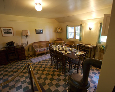 Staff dining room, adjacent to the kitchen