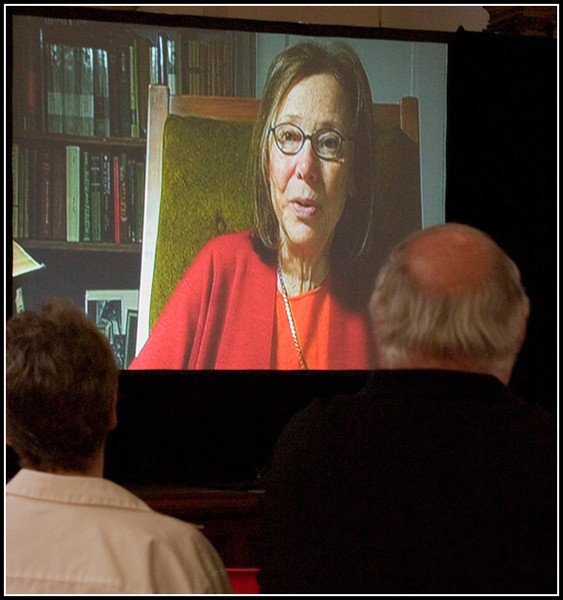 Grace Schulman on the screen