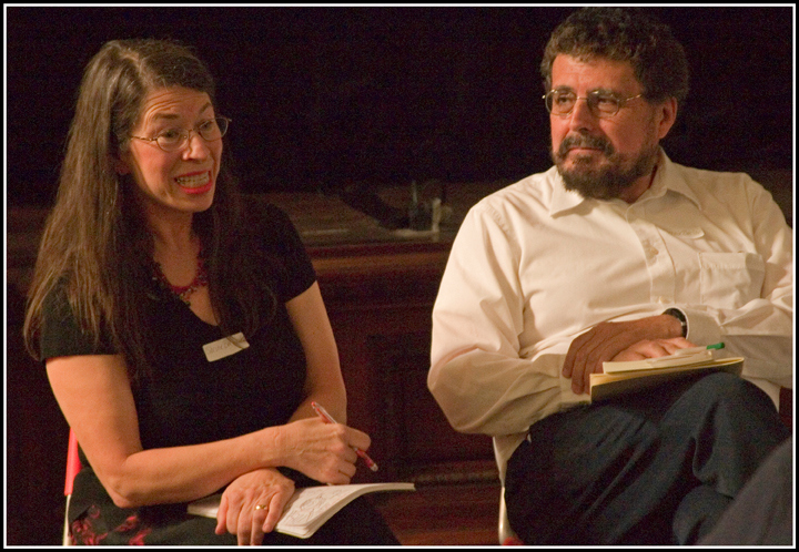 Sarina and Bernie Berlow were two of the invited panelists as the discussions begin.