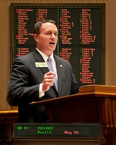 Example: available lighting (GA Representative Matt Ramsey speaking in the well of the House of Representatives)