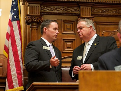 Available lighting, GA Rep Matt Ramsey and Speaker of the House Ralston