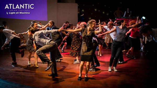 Sunday night - Atlantic Vaudeville Show - Slapstick Lindy Hop Routine